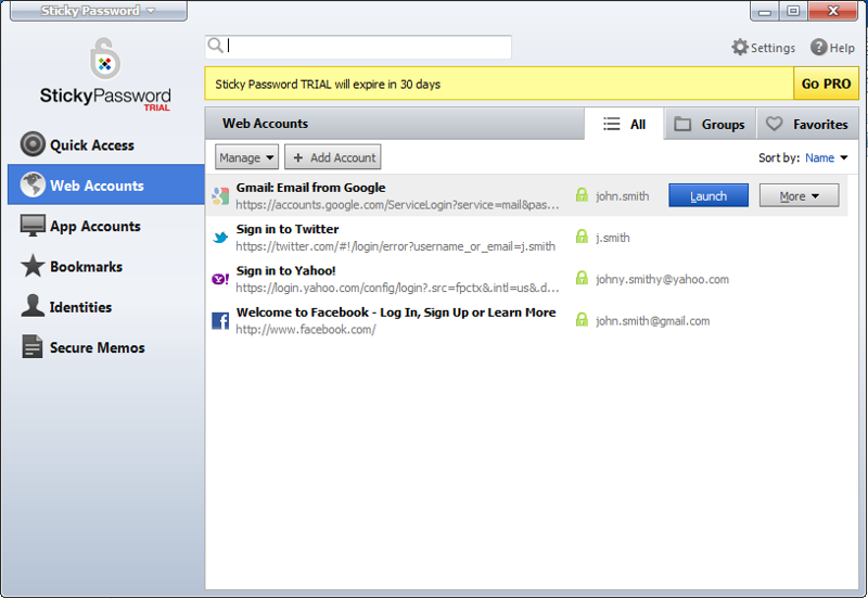 Sticky Password FREE full screenshot